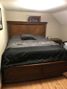King size bedroom set.   (Mattress not included)
