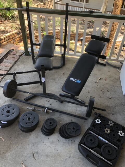 Home gym fitness equipment weights bench sit up barbell dumbbell