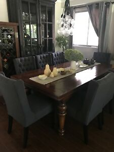 Tufted Dining Chairs (8)—BRAND NEW