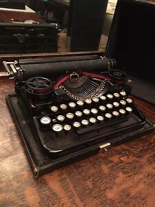 On Hold pending viewing  1920's Small Underwood Typewriter