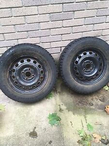 2 (two only)P185/65/R14 winter tires