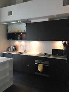 Short Term fully furnished downtown 1 bedroom condo with parking
