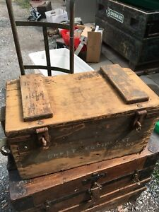 Old army box. With picture