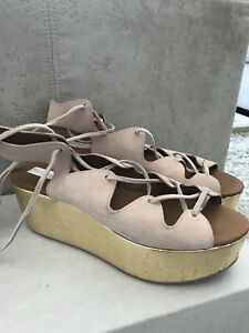 See by Chloe wedge sandals size 9.5