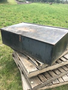 3' wide steel trailer box