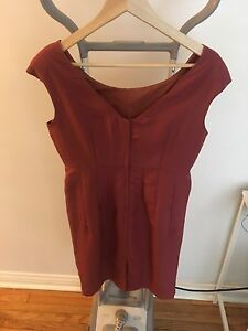 Orange/red dress size 10