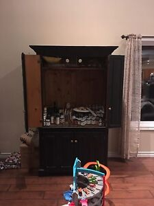 Large wooden Tv or storage cabinet