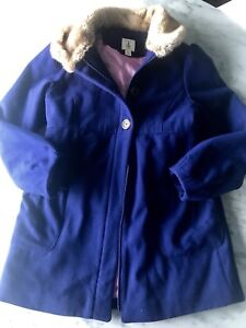 Girl's Land's End Wool Blend Coat, Size 10-12