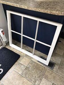 Vintage old wood window