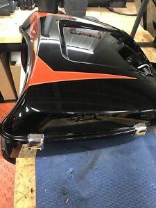 Harley-Davidson tour pack and left saddlebag