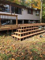 Custom decks and stairs