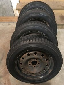 4 toyo winter tires with rims 205/65/16 (5x114.3)