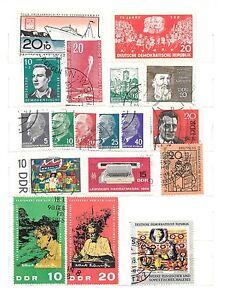 GERMANIA-DDR-lotto-18-francobolli-usati-e-nuovi-anni-039-50-60