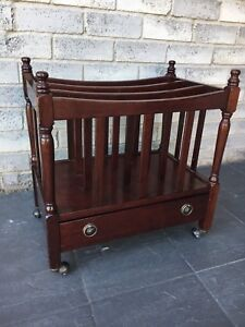 Attractive Vintage Wood Rack With Base Drawer