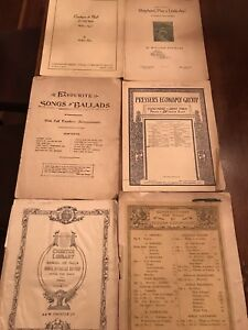 Selection of Six Sheet Music Early Twentieth Century