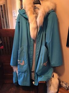 Hudson Bay Vintage Parka and Matching Shell and Mitts