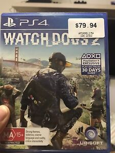Watchdogs 2 PS4 Sealed! - Cheaper than EB Quakers Hill Blacktown Area Preview
