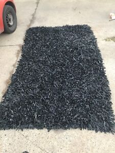 Real leather rug