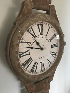 """Solid Wood Oversized Wall Clock 65"""" x 17"""""""