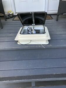 RV Trailer Power Vent Lid