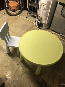 Children table and one chair