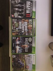 Xbox 360 games 40$ see details
