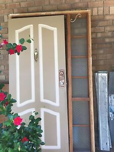 Front door with frame and sidelight Netherby Mitcham Area Preview