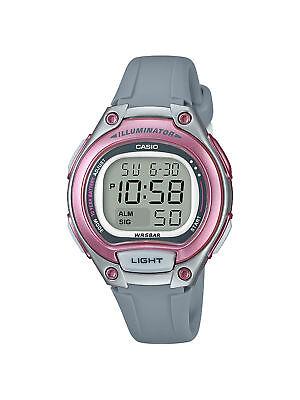 Casio Women's  Quartz Digital Illuminator Pink Resin Band 34mm Watch LW203-8A