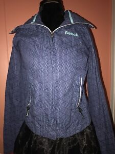 like new BENCH jacket with hood, small!!blue and purple