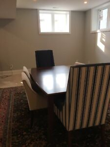 Rouseaus Dining Room table and custom chairs