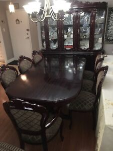 Antique Dining Set w/ chairs. Replenished / Upholstered