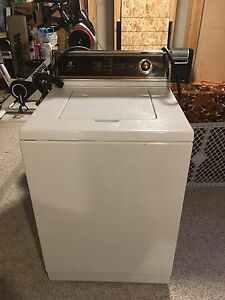 Old school Maytag washer and dryer, heavy duty machines