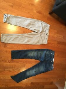 Guess denim and Zara khaki pants
