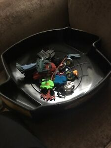 Beyblades metal fusion 2 stadiums and lot of beyblades