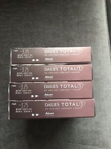 Dailies Total 1 Contact Lenses: Rx -3.75, 4 boxes (90-pack each)