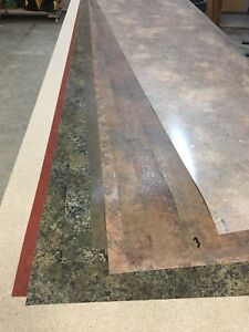 Laminate sheets for counter top.