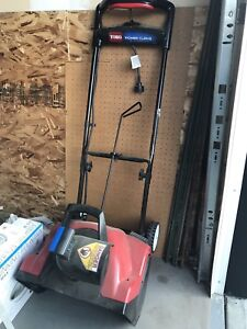 """Toro 18"""" Electric Snowblower - barely used, like new"""