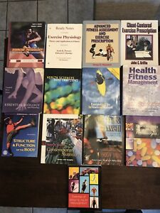 Textbooks:  Anatomy/Physiology, Fitness ($10 per book)