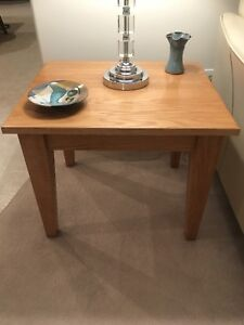 Solid Oak Side Tables x 2