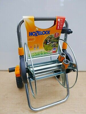 EMPTY ASSEMBLED HOZELOCK 2437 METAL HOSE CART ACCEPTS UP TO 60M OF HOSE