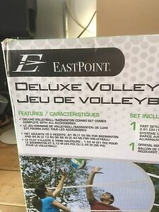 Deluxe Badminton and Volleyball Set