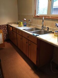 COUNTER, DBL SINK, CABINETS $35