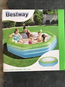 Blow up pool never opened