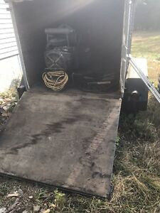 Enclosed trailer, welder and torches