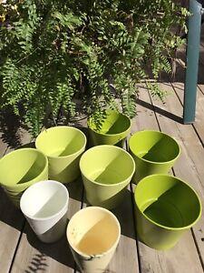 Ceramic flower pots 12pcs