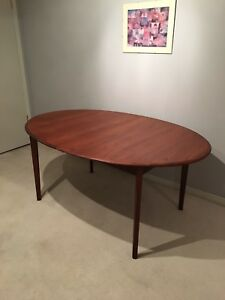 Oval Mid- Century Teak Dining Table