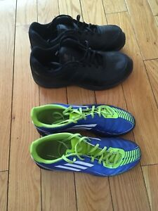 Adidas indoor soccer shoes boys and New balance men's