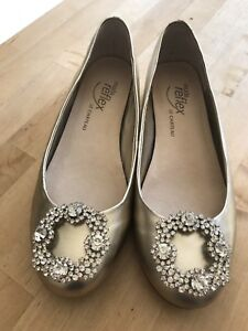 Gold flats with clips