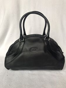 Longchamp 'Doctor's Bag' in black leather