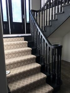 Solid oak painted staircase